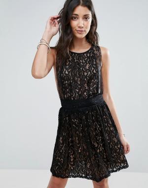 Raga Кружевное платье без рукавов Lani. Цвет: черный
