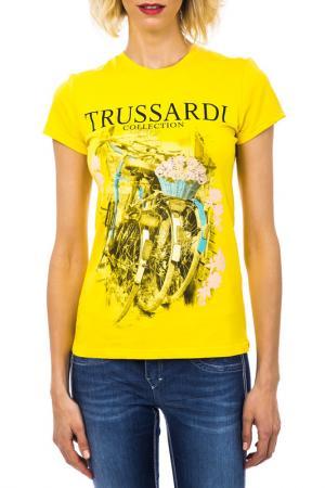 Футболка Trussardi. Цвет: желтый