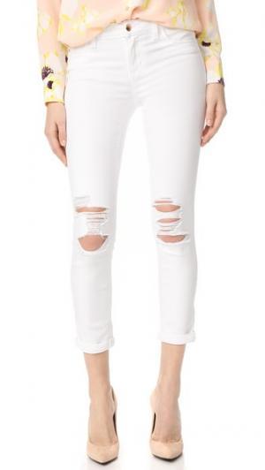 Укороченные джинсы-скинни Andie со средней посадкой Joe's Jeans. Цвет: оптический белый