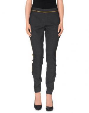 Повседневные брюки ELIZABETH AND JAMES. Цвет: стальной серый