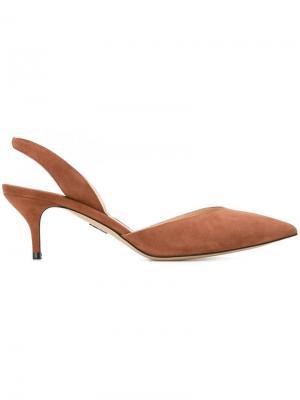 Туфли на низком тонком каблуке Paul Andrew. Цвет: коричневый
