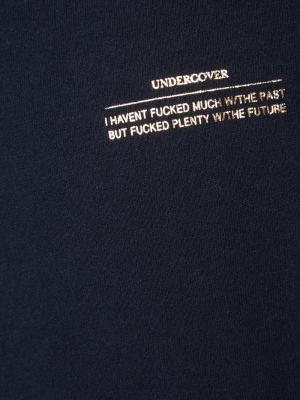 Metallic print T-shirt Undercover. Цвет: синий