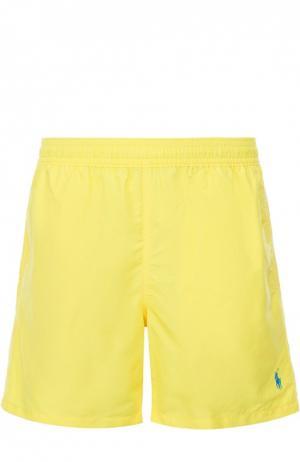 Плавки-шорты с карманами Polo Ralph Lauren. Цвет: желтый