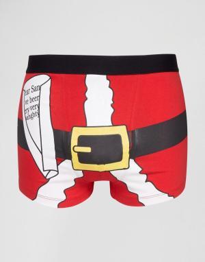SSDD Новогодние боксеры. Цвет: красный