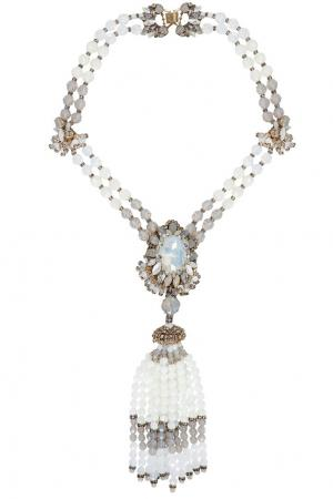 Колье из кристаллов Erickson Beamon. Цвет: белый, серебряный
