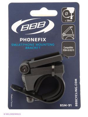 Крепеж на руль для телефона BBB. Цвет: черный