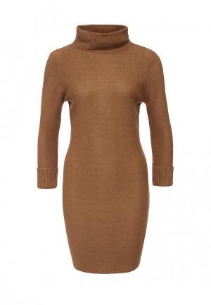 Платье Brave Soul. Цвет: коричневый