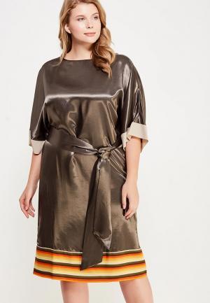 Платье Larro. Цвет: хаки