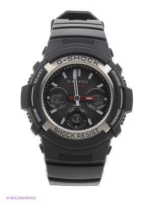 Часы G-SHOCK AWG-M100-1A CASIO. Цвет: черный