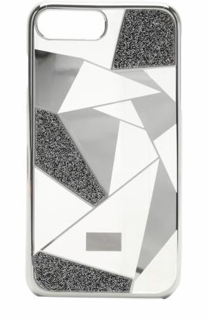 Чехол Heroism для iPhone 7 Plus Swarovski. Цвет: серебряный