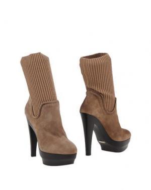 Полусапоги и высокие ботинки ENIO SILLA for LE. Цвет: хаки