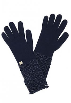 Перчатки LUISA SPAGNOLI. Цвет: синий