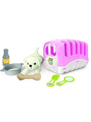 Игровой набор мой Любимый щенок, цв.розовый DOLU. Цвет: розовый