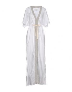 Длинное платье SOLID & STRIPED. Цвет: белый