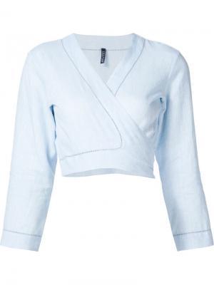 Укороченная блузка Lisa Marie Fernandez. Цвет: синий
