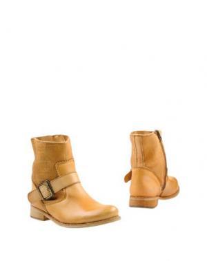 Полусапоги и высокие ботинки FELMINI. Цвет: верблюжий