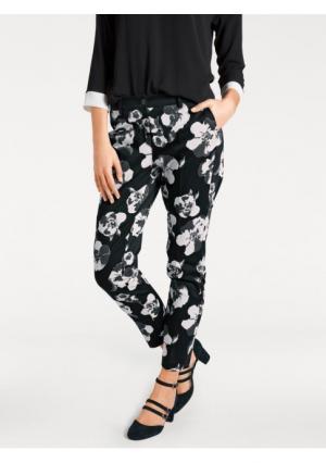 Моделирующие брюки ASHLEY BROOKE by Heine. Цвет: черный/молочно-белый
