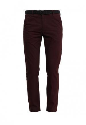 Брюки Burton Menswear London. Цвет: бордовый