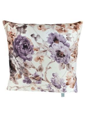 Декоративная подушка Ноктюри с шелковой отстрочкой LACCOM. Цвет: фиолетовый, светло-серый