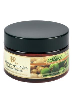 Питательная и восстанавливающая маска с маслом макадамии для сухих поврежденных волос Debora Cosmetics. Цвет: бежевый