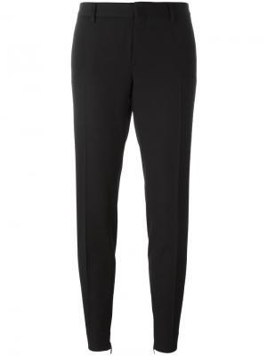 Зауженные костюмные брюки Saint Laurent. Цвет: чёрный