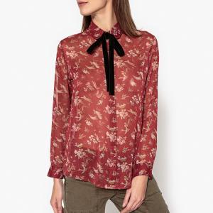 Рубашка с галстуком и длинными рукавами JAMES THE KOOPLES. Цвет: бордовый