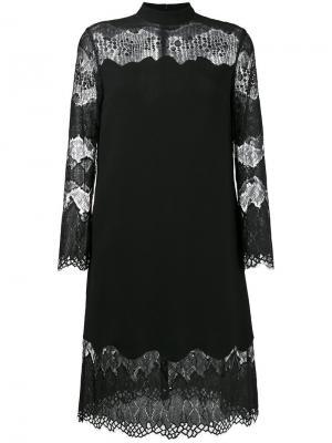 Платье с кружевными панелями Huishan Zhang. Цвет: чёрный
