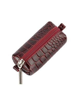 Ключница Timeless (105х45х35) (бордовый крокодил). Цвет: бордовый