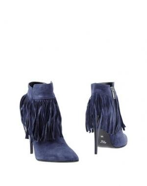 Полусапоги и высокие ботинки SPAZIOMODA. Цвет: синий