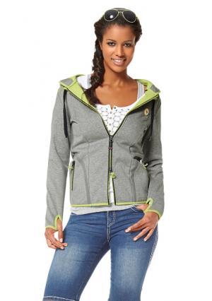 Куртка Kangaroos. Цвет: серый меланжевый