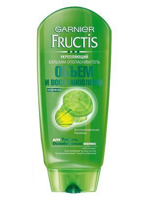 Бальзам-ополаскиватель Fructis, Объем и восстановление, для тонких ослабленных волос Garnier. Цвет: зеленый
