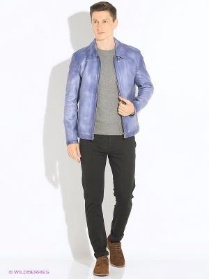 Куртка кожаная VESIVIO. Цвет: фиолетовый