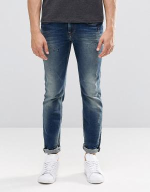 Pepe Jeans Прямые выбеленные джинсы Kingston N56. Цвет: синий