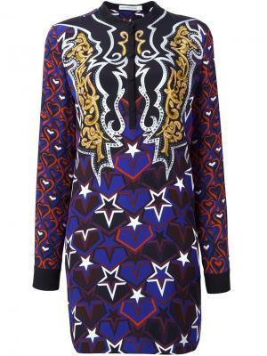 Платье Cleef с узором Mary Katrantzou. Цвет: чёрный