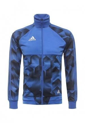Олимпийка adidas Performance. Цвет: синий
