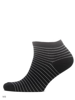 Носки укороченные из гребенного хлопка (3 пары) HOSIERY. Цвет: черный