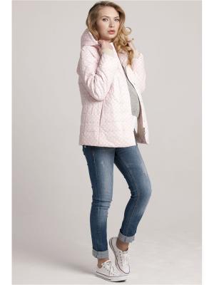 Куртка Modress. Цвет: бледно-розовый, белый
