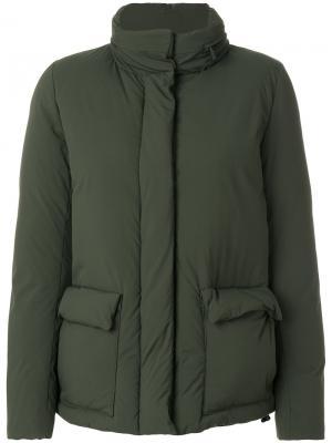 Дутая куртка Pettegola Aspesi. Цвет: зелёный