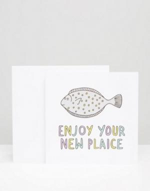 Veronica Dearly Поздравительная открытка New Plaice. Цвет: мульти
