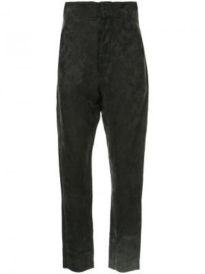 Jacquard cropped trousers Uma Wang. Цвет: чёрный