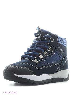 Ботинки GEOX. Цвет: синий, серый