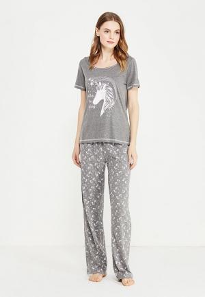 Пижама Dorothy Perkins. Цвет: серый