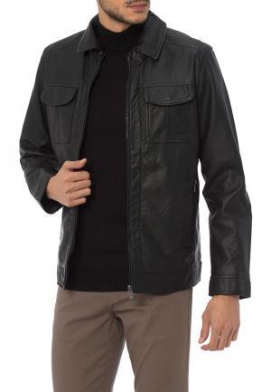 Куртка кожаная LC Waikiki. Цвет: черный