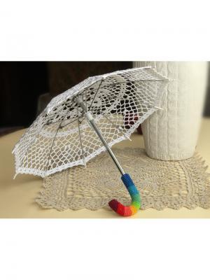 Интерьерный зонт Радуга Локсы. Цвет: белый