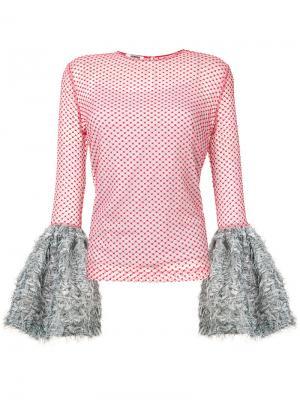Блуза  Tulle Jourden. Цвет: красный