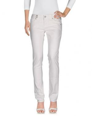 Джинсовые брюки 55DSL. Цвет: белый
