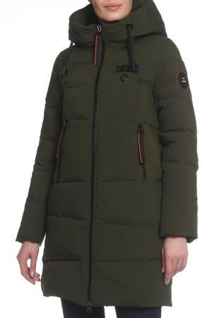 Пальто PURELIFE. Цвет: зеленый