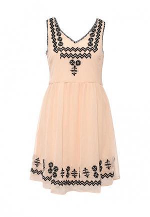 Платье Vila. Цвет: розовый
