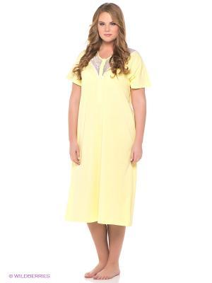Сорочка Vis-a-vis. Цвет: желтый