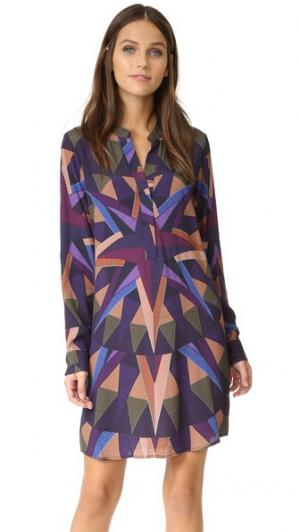 Платье-рубашка Compass Mara Hoffman. Цвет: оливковый